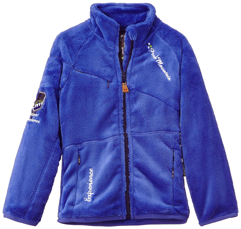 Peak Mountain Falono//xj Girls Sherpa Fleece Jacket in Coral