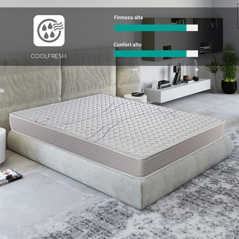ROYAL SLEEP Colchón viscoelástico 90x190 de máxima Calidad, Confort, firmeza y adaptabilidad Alta, Altura 18cm - Colchones Xfresh Plus: Amazon.es: Hogar