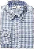 Nick Graham Mens NGEF16DSAN Alternating Neat Print Stretch Dress Shirt Point Dress Shirt