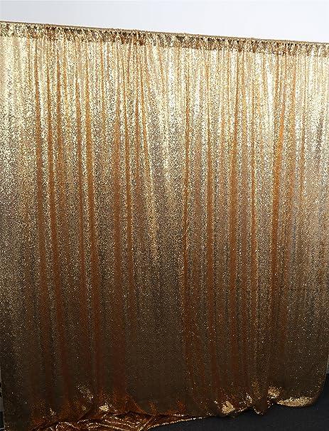 Diseño exclusivo de brillo dorado cortina, telón de fondo de ...