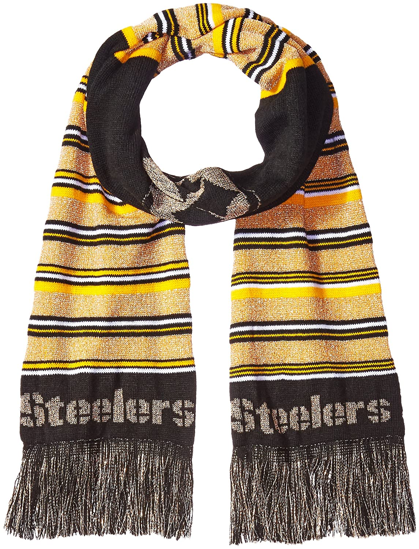 FOCO NFL Unisex Glitter Stripe Scarf