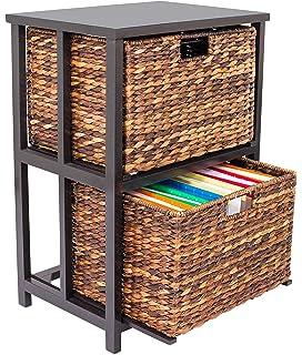 huge discount 15687 b0157 Amazon.com: Iron/Wicker Storage Chest - 6 Baskets w/ Wrought ...