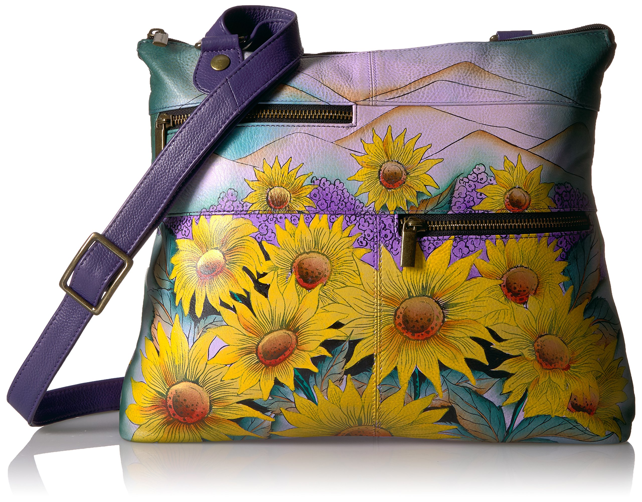 Anuschka Hand Painted Leather Large Crossbody