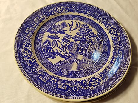 Antique Collectible Blue Willow Legend Tin Plate 10u0026quot; & Amazon.com | Antique Collectible Blue Willow Legend Tin Plate 10 ...
