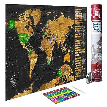 rubbel weltkarte Amazon.de: decomonkey Rubbel Weltkarte XXL Design Geschenk Welt  rubbel weltkarte