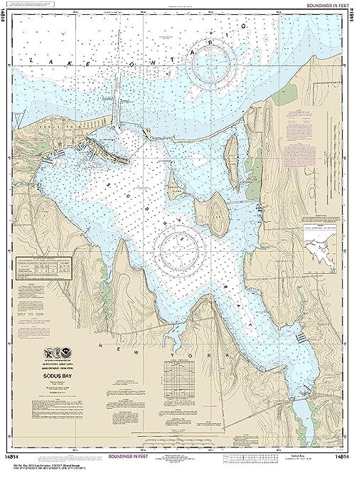 21ff8de69ccd Amazon.com : MapHouse NOAA Chart 14814 Sodus Bay: 37.95