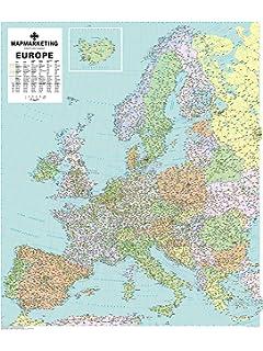Mapa plastificado Europa Político: 1 Mapas en tubo y plastificados ...