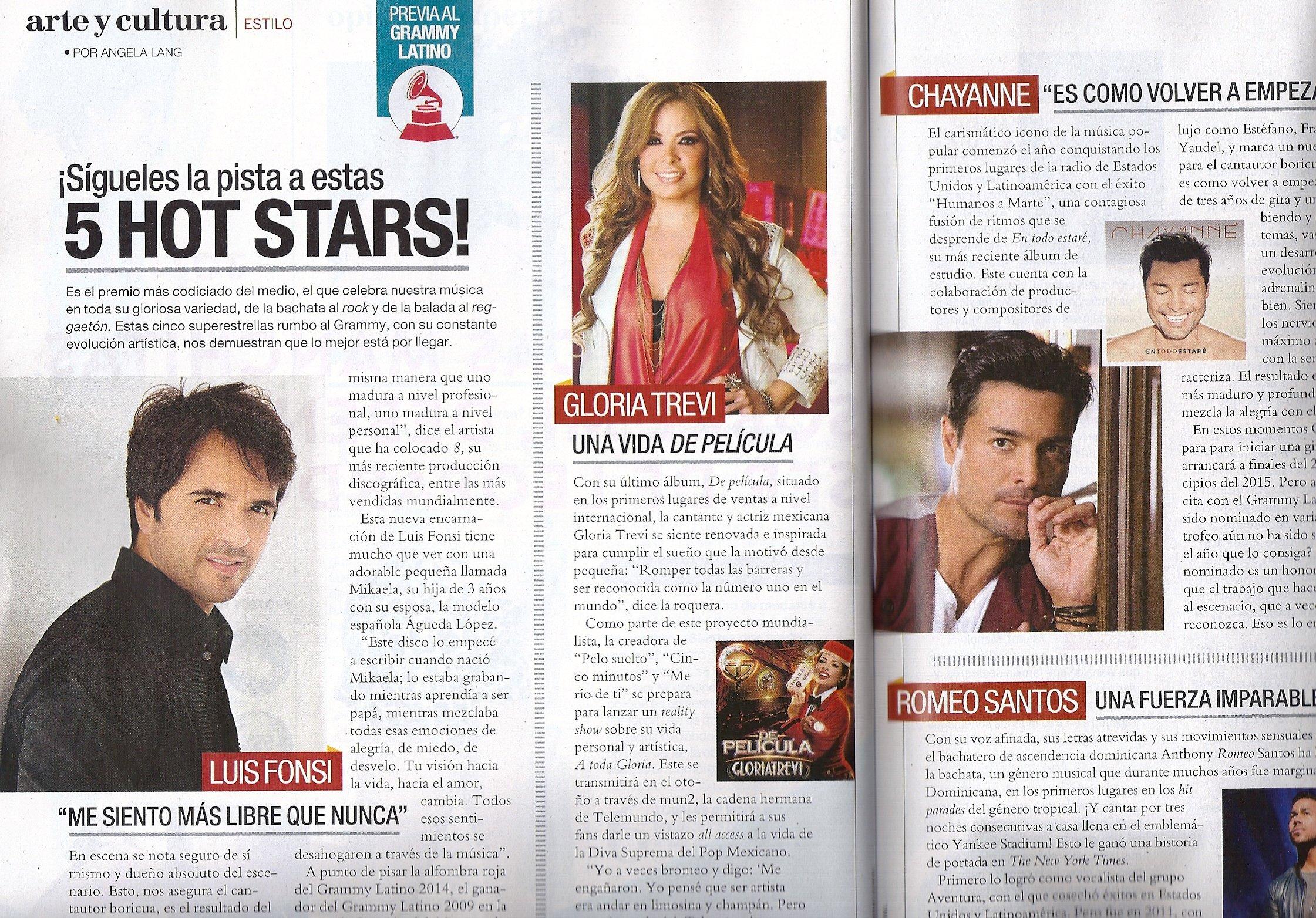 Alexis Payne, Grammy Latino - Octubre/Noviembre, 2014 Siempre Mujer Periodico Magazine: Maria Cristina: Amazon.com: Books