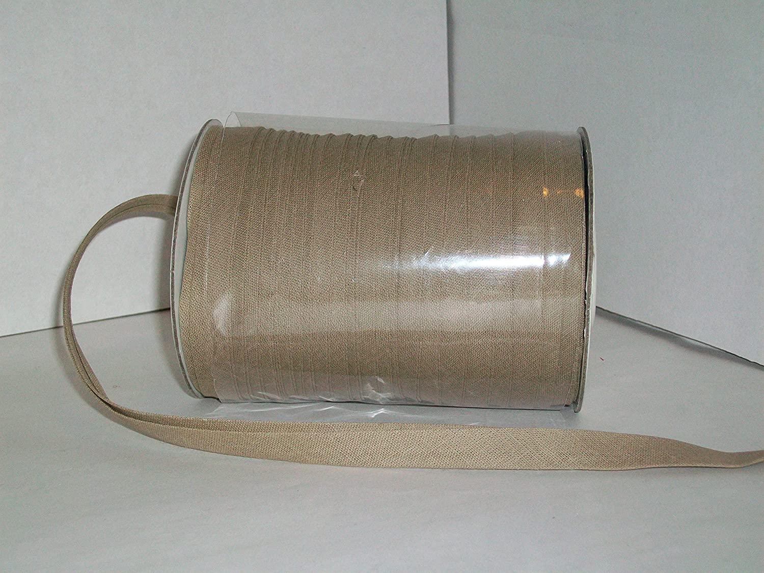 Toffee Double Fold Bias Tape 50 Yds. 1/2 Inch China