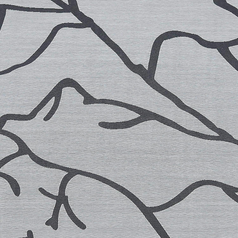 ESLIR Raffrollo mit U-Haken Gardinen K/üche Raffgardinen Halbtransparent /Ösenrollo Vorh/änge Modern Ausbrenner Wei/ß BxH 60x140cm 1 St/ück