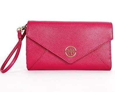 2bb2ad020c7c Image Unavailable. Image not available for. Color  Tory Burch Robinson  Envelope Wristlet Raspberry
