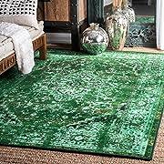nuLOOM Vintage Persian Reiko Area Rug, 5' x 8', Green