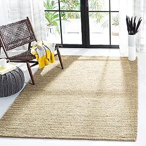 Safavieh Bohemian Collection Boh525f Handmade New Zealand Wool Jute Area Rug 8 X 8 Square Beige Multi Furniture Decor Amazon Com