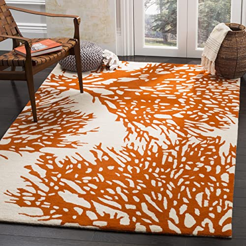 Safavieh Bella Collection BEL115B Handmade Beige and Terracotta Premium Wool Area Rug 9' x 12'