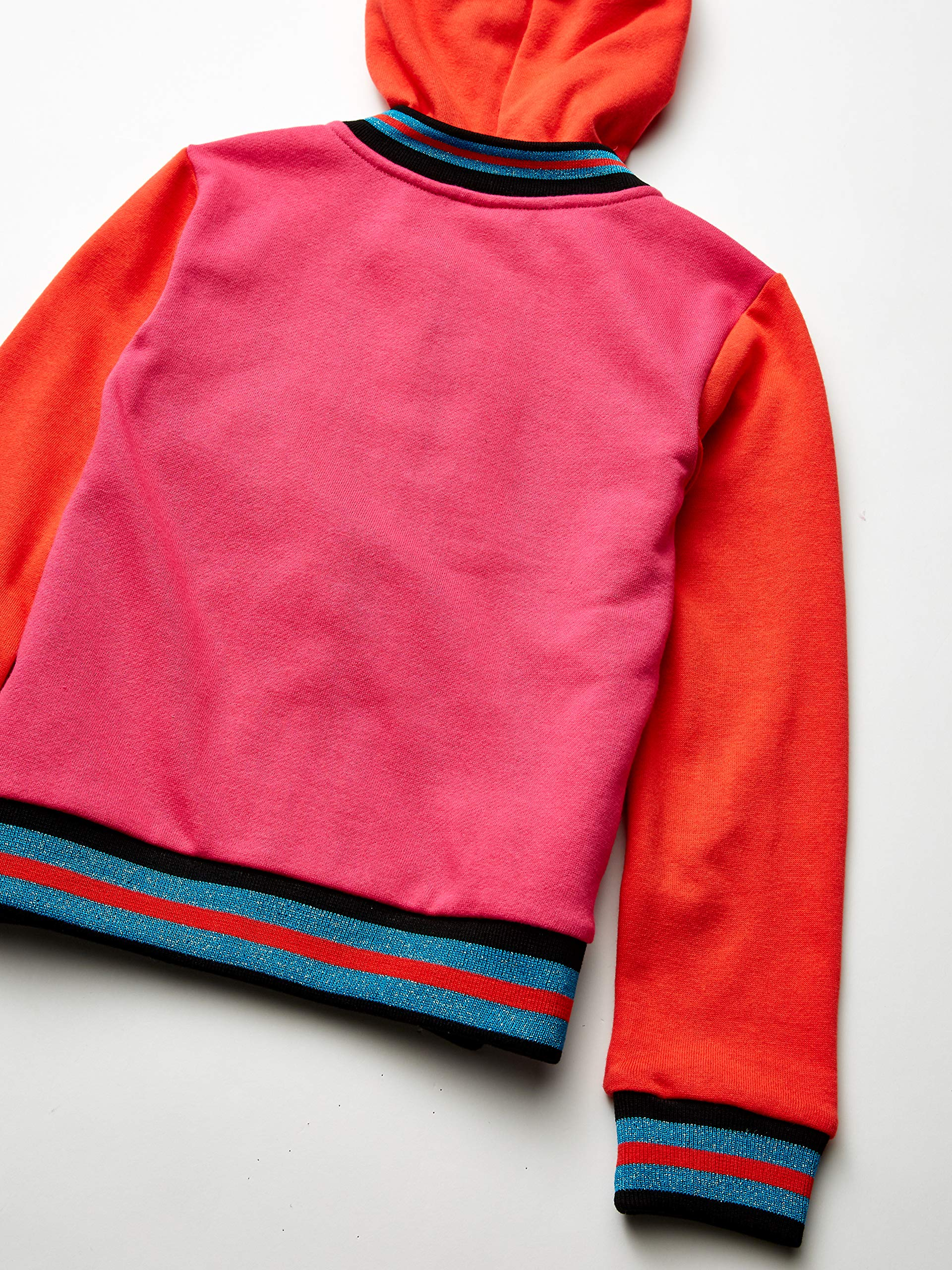 JoJo Siwa Girls' Little Big Bow Zip Up Athletic Hoodie, Red/Hot Pink, S-7 by JoJo Siwa (Image #3)