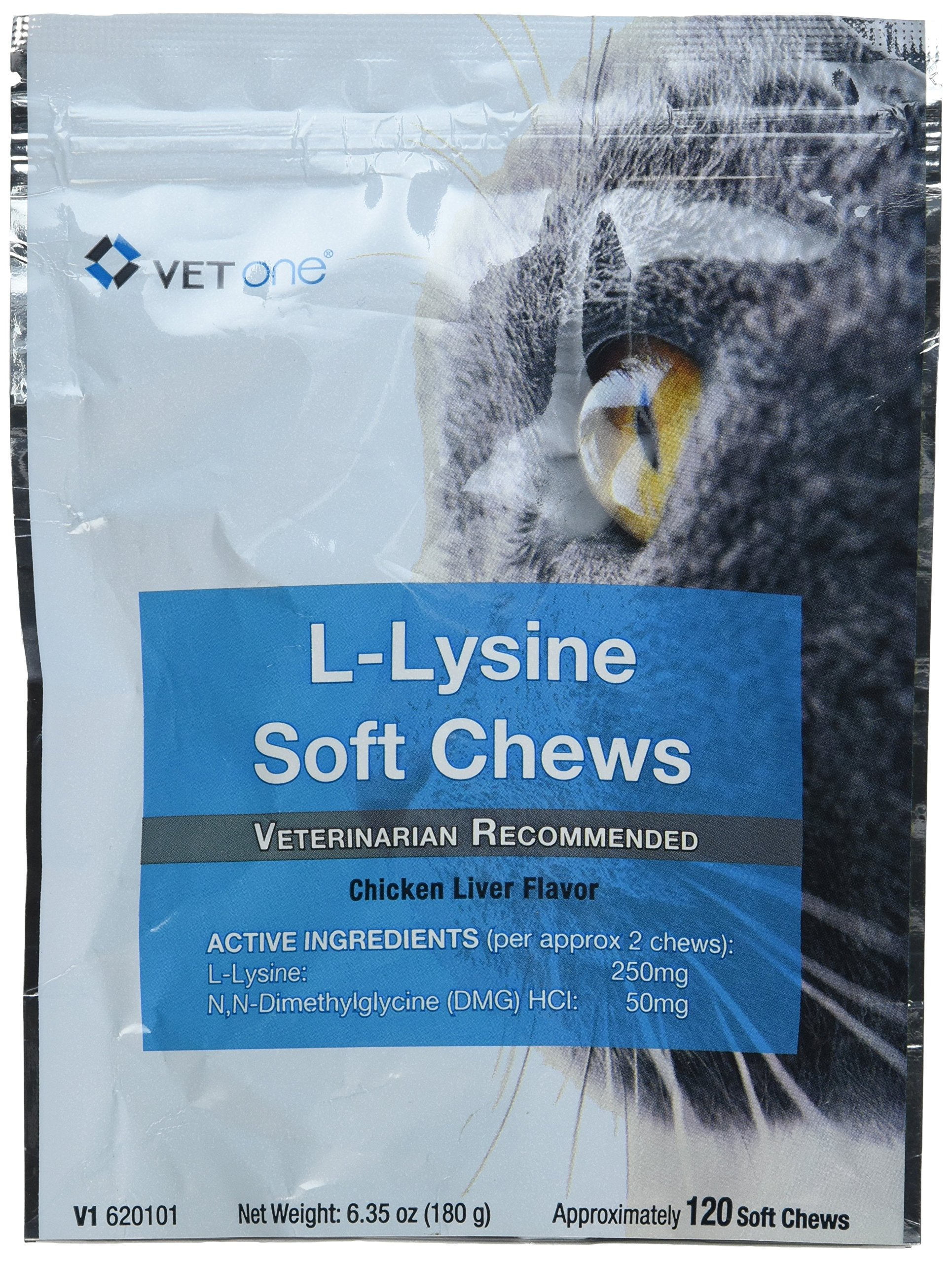 Vet One 120 Count L-Lysine Soft Chew, One Size