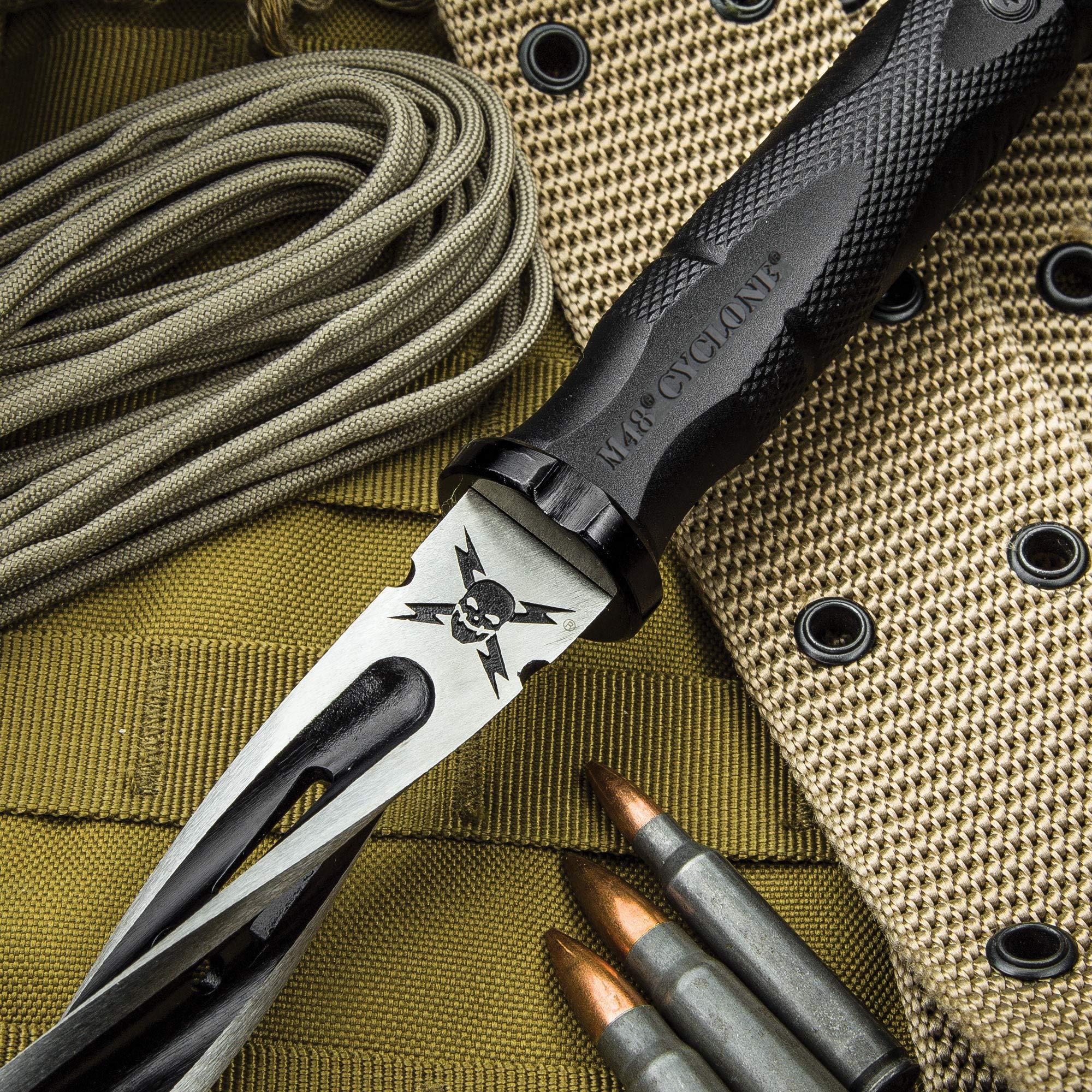 M48 Cyclone Tri-Edged Spiraling Dagger Knife With Custom Vortec Sheath by United Cutlery (Image #4)