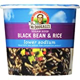 DR. McDOUGALL'S RIGHT FOODS Vegan Lower Sodium  Black Bean and Rice Soup, 1.6-Ounce (Pack of 6)