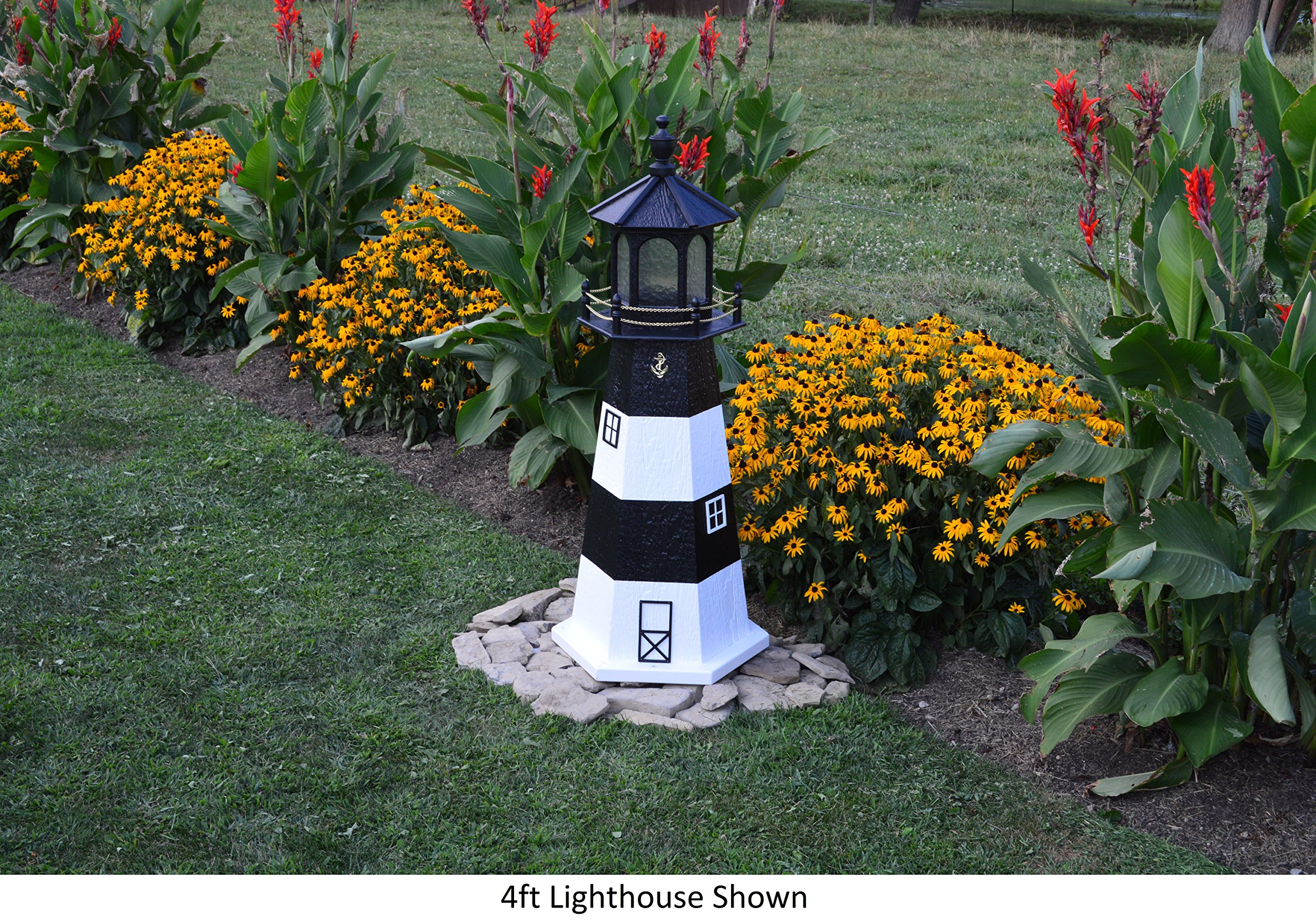 Amish-Made Fire Island, NY Replica Lighthouse, 48'' Tall