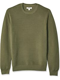 7dd9f2a9 Amazon Brand - Goodthreads Men's Soft Cotton Ottoman Stitch Crewneck Sweater