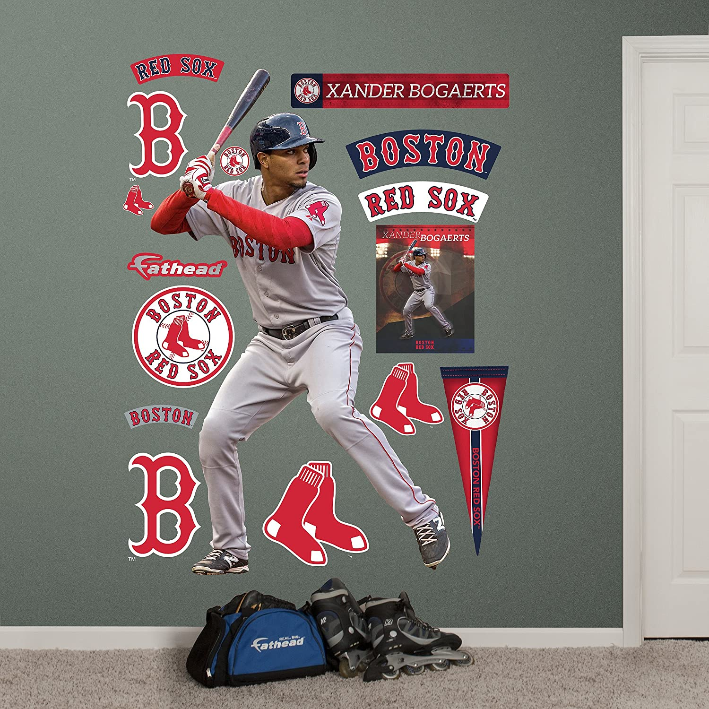Nfl Fatheads Wall Stickers Amazon Com Mlb Boston Red Sox Xander Bogaerts Fathead  Wall Decal
