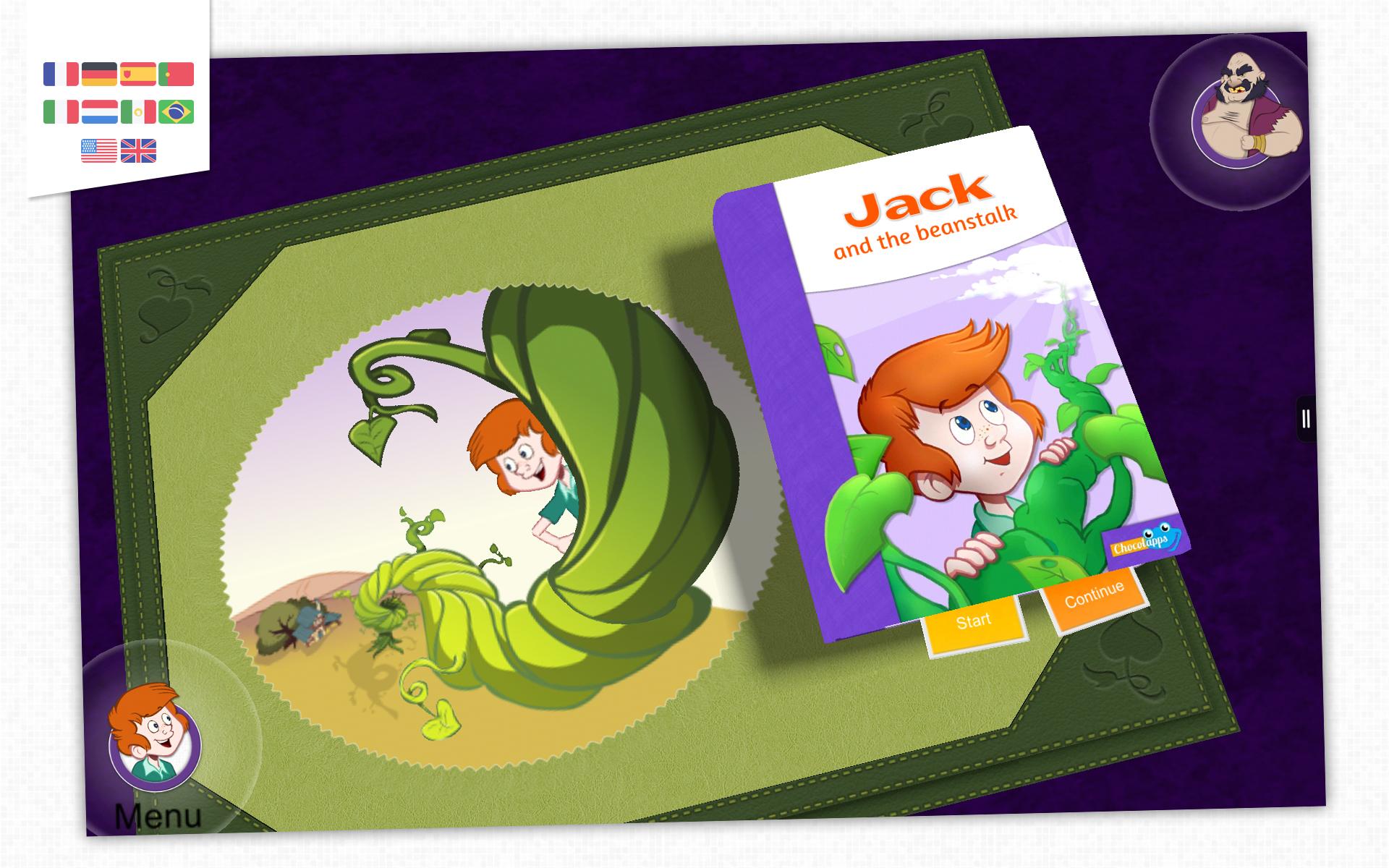 Juan y las habichuelas mágicas - Libro animado par niños