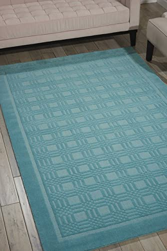 Nourison Westport Aqua Rectangle Area Rug, 8-Feet by 10-Feet 6-Inches 8 x 10 6