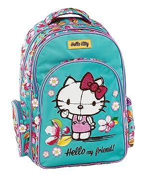 Graffiti Hello Kitty Mochila Escolar, 44 cm, Verde (Mint): Amazon.es: Equipaje