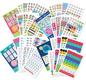 Epic Planner Stickers Variety Set | 1,850 Stickers | Calendar Sticker Designed for Everyone & Any Planner | Home, Work, Family, Holidays, Appointments, Goal Tracking, Date Nights, Checklists & More!