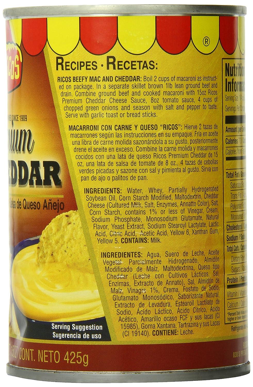 Ricos Aged Cheddar Cheese Sauce, 15 oz