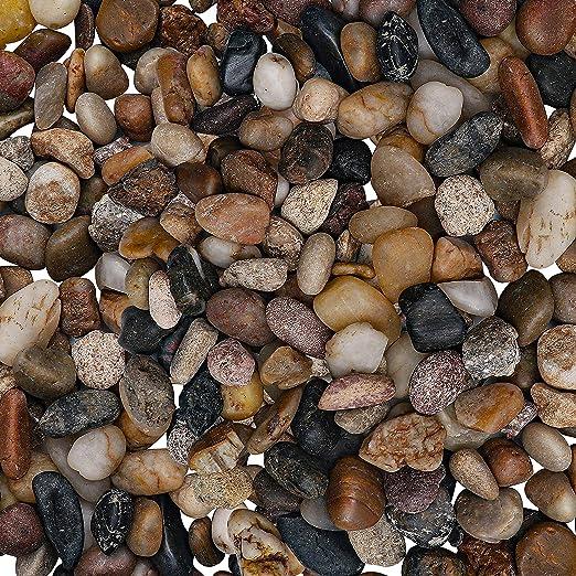 BELLE VOUS Piedra Decorativa - 3, 6kg Mini Piedra Jardin Variadas Grava Decorativa Relleno Jarrón (1, 4 – 2, 6cm) – Piedras Macetas, Decoracion Hogar, Tazón, Grava Acuario, Florero: Amazon.es: Jardín