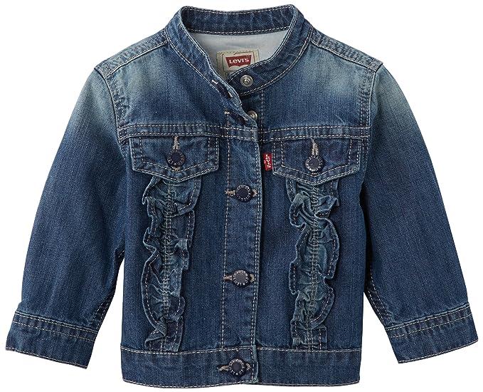 Levis Jacket, Abrigo para Niñas, Azul (Indigo), (24 Meses)