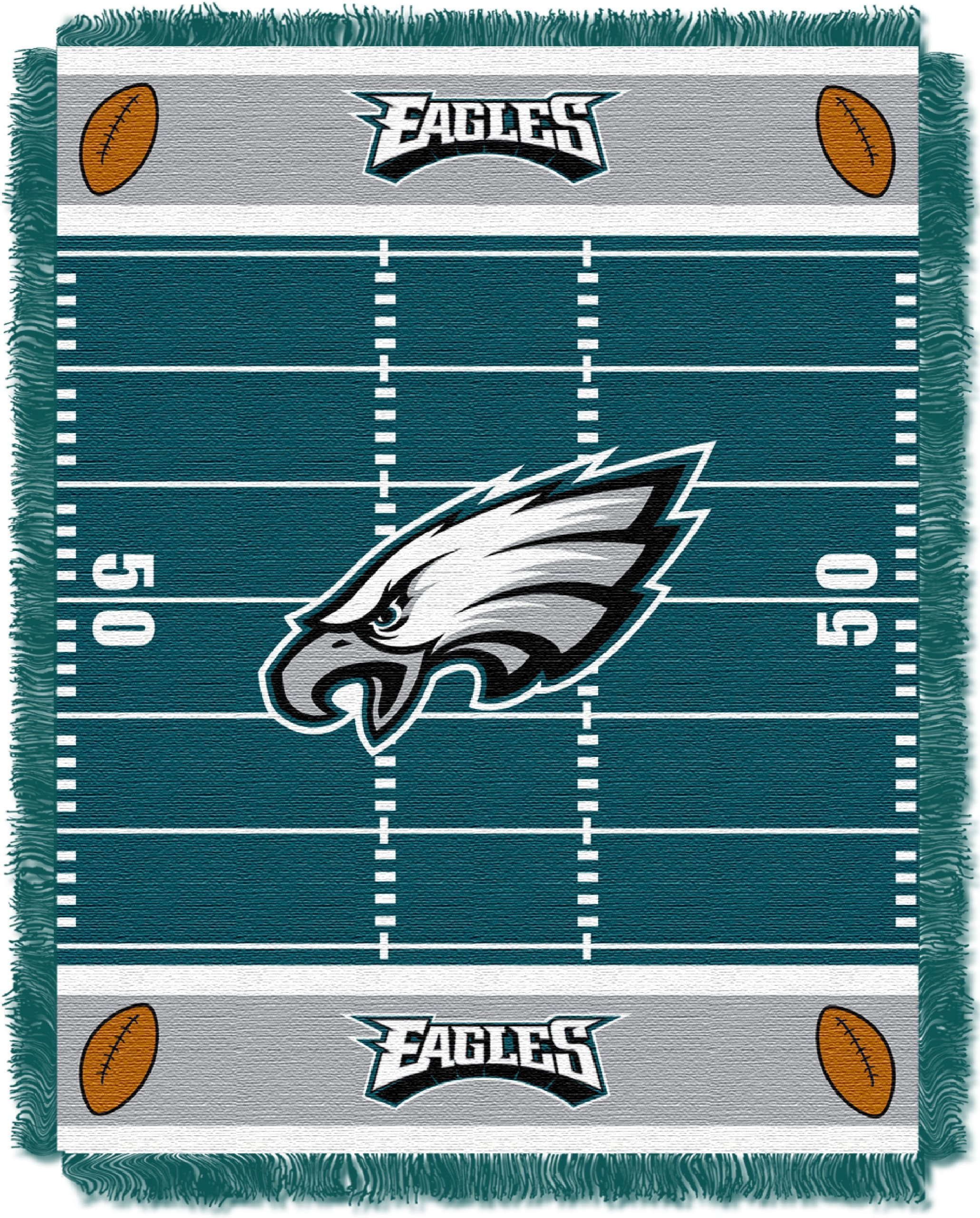 The Northwest Company Officially Licensed NFL Philadelphia Eagles Field Bear Woven Jacquard Baby Throw Blanket, 36'' x 46'', Multi Color by The Northwest Company