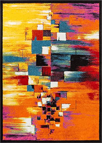 Well Woven Viva Unforgettable Modern Abstract Blocks Multi Bright Area Rug 7 10 x 9 10