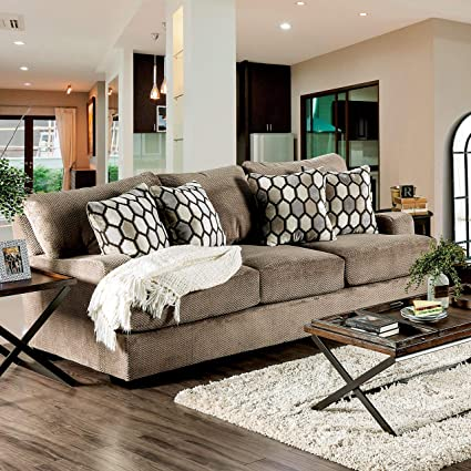 Amazon.com: Furniture of America Sheila Transitional Modern ...