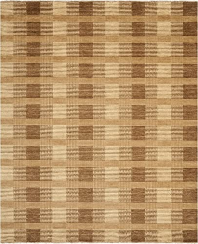 Safavieh Tibetan Collection TIB332C Hand-Knotted Brown Wool Area Rug 9 x 12