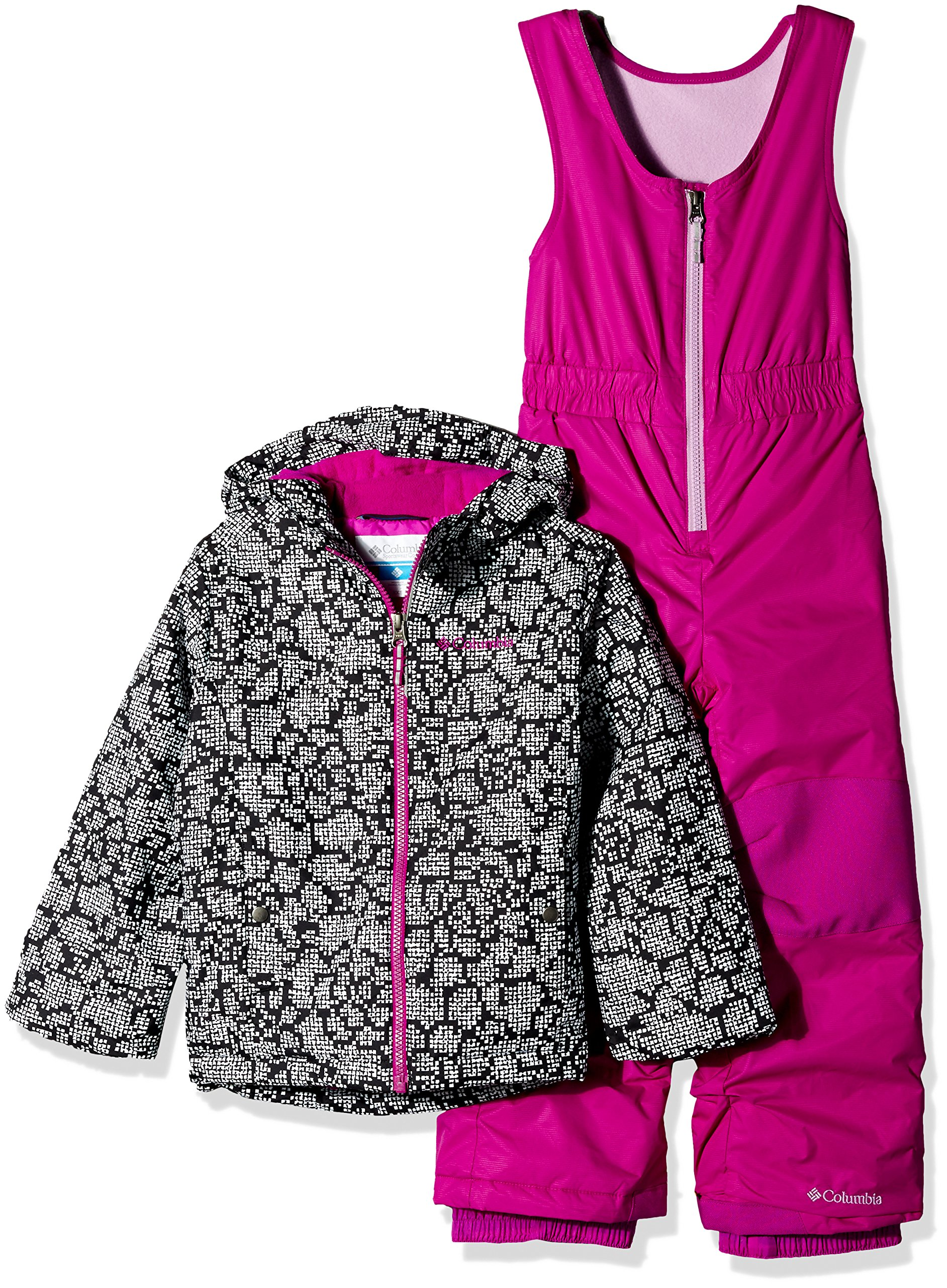 Columbia Little Girls' Frosty Slope Set, Black Floral, XX-Small