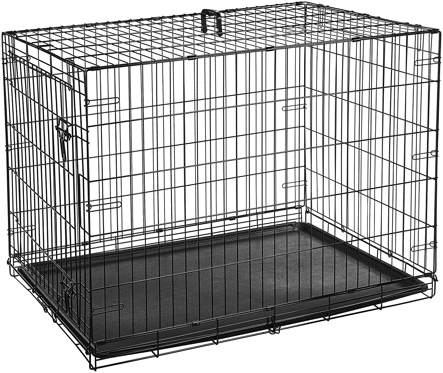 Amazonbasics Single Door Folding Metal Dog Cage With Paw Protector