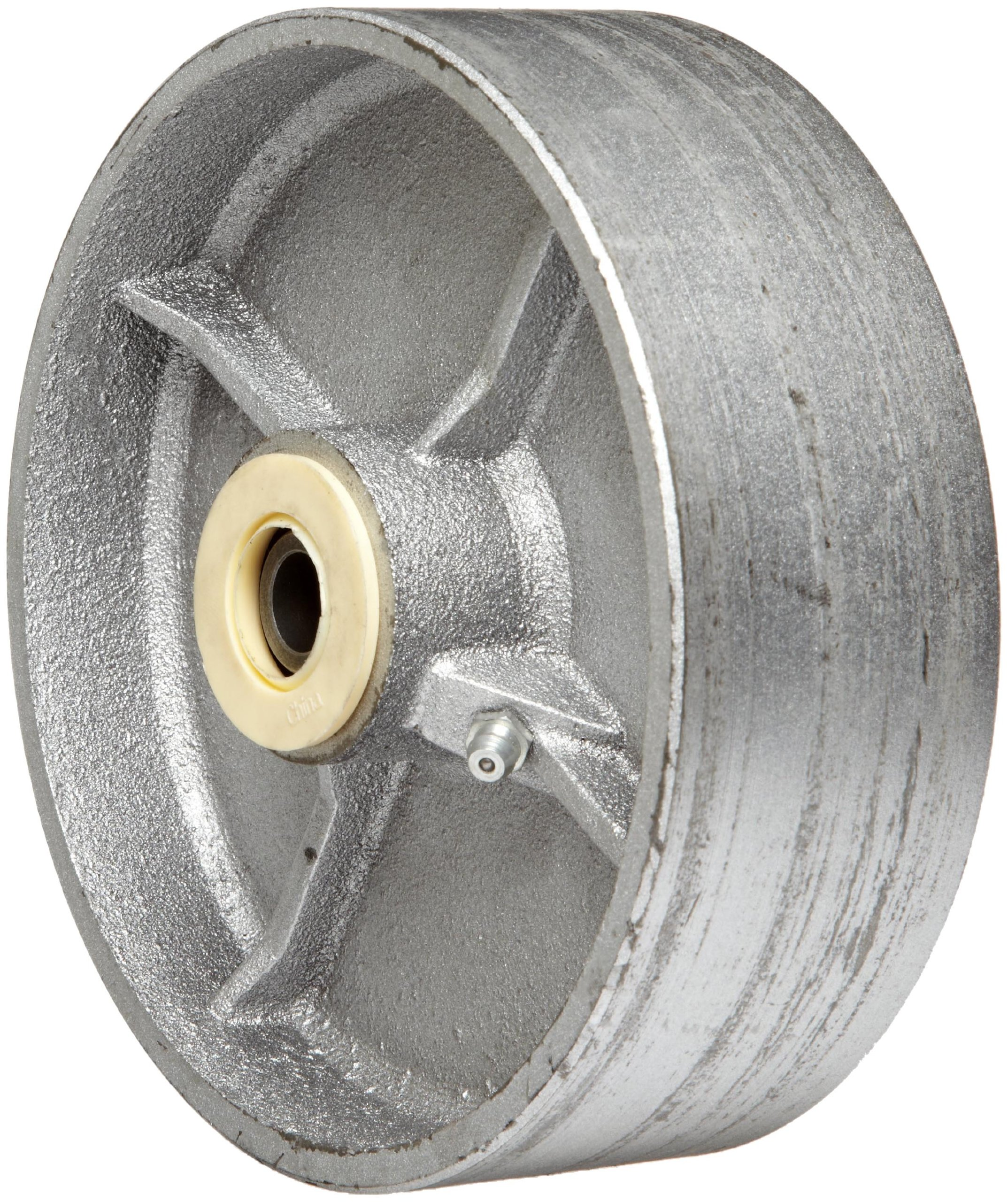 EZ Roll WEZ-0620-STR 6'' Diameter Semi-Steel Roller Bearing Wheel, 1200 lbs Load Capacity