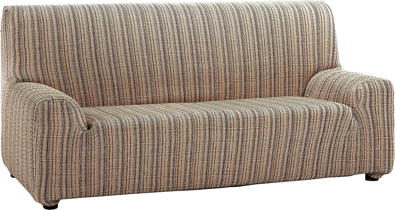 Martina Home Mejico - Funda de sofá elástica, Marrón, 3 Plazas, 180 a 240 cm de ancho