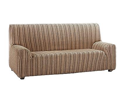 Martina Home Mejico - Funda de sofá elástica , Marrón, 3 Plazas