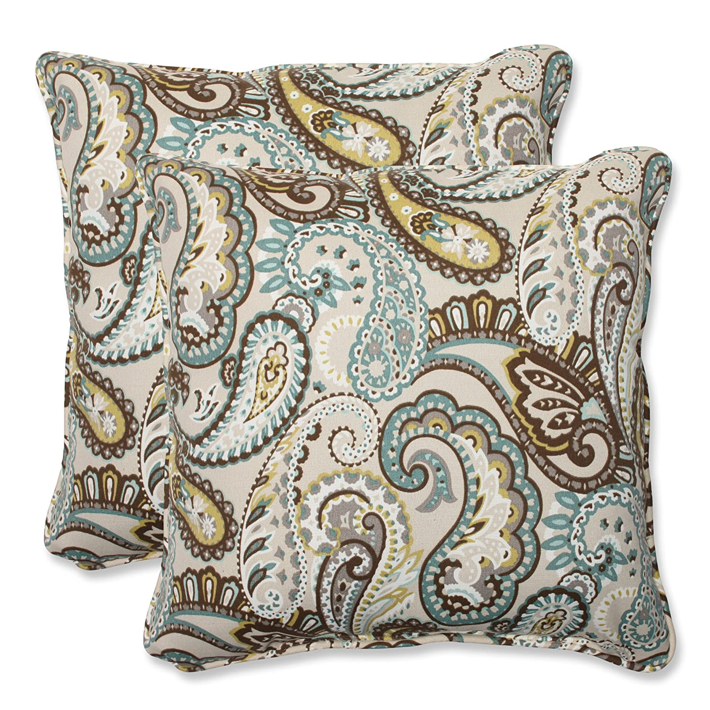 amazoncom pillow perfect outdoor tamara paisley quartz throw pillow 185inch set of 2 home u0026 kitchen