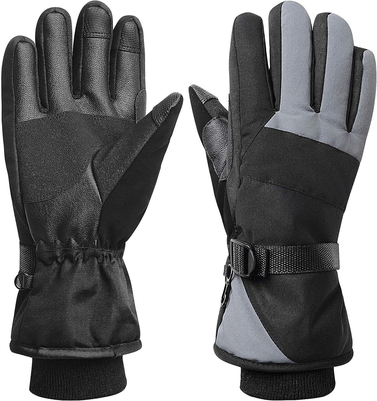 Womens Mens Waterproof Ski Gloves Snowboarding 3M Thinsulate Winter Gloves USA