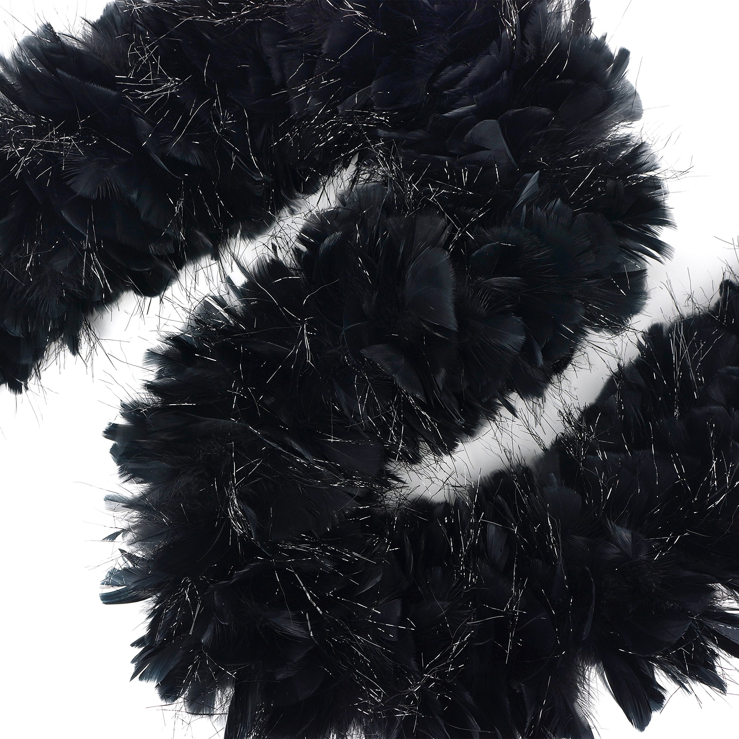 Zucker Feather Products Turkey Boa with Lurex, Black by Zucker Feather Products (Image #2)
