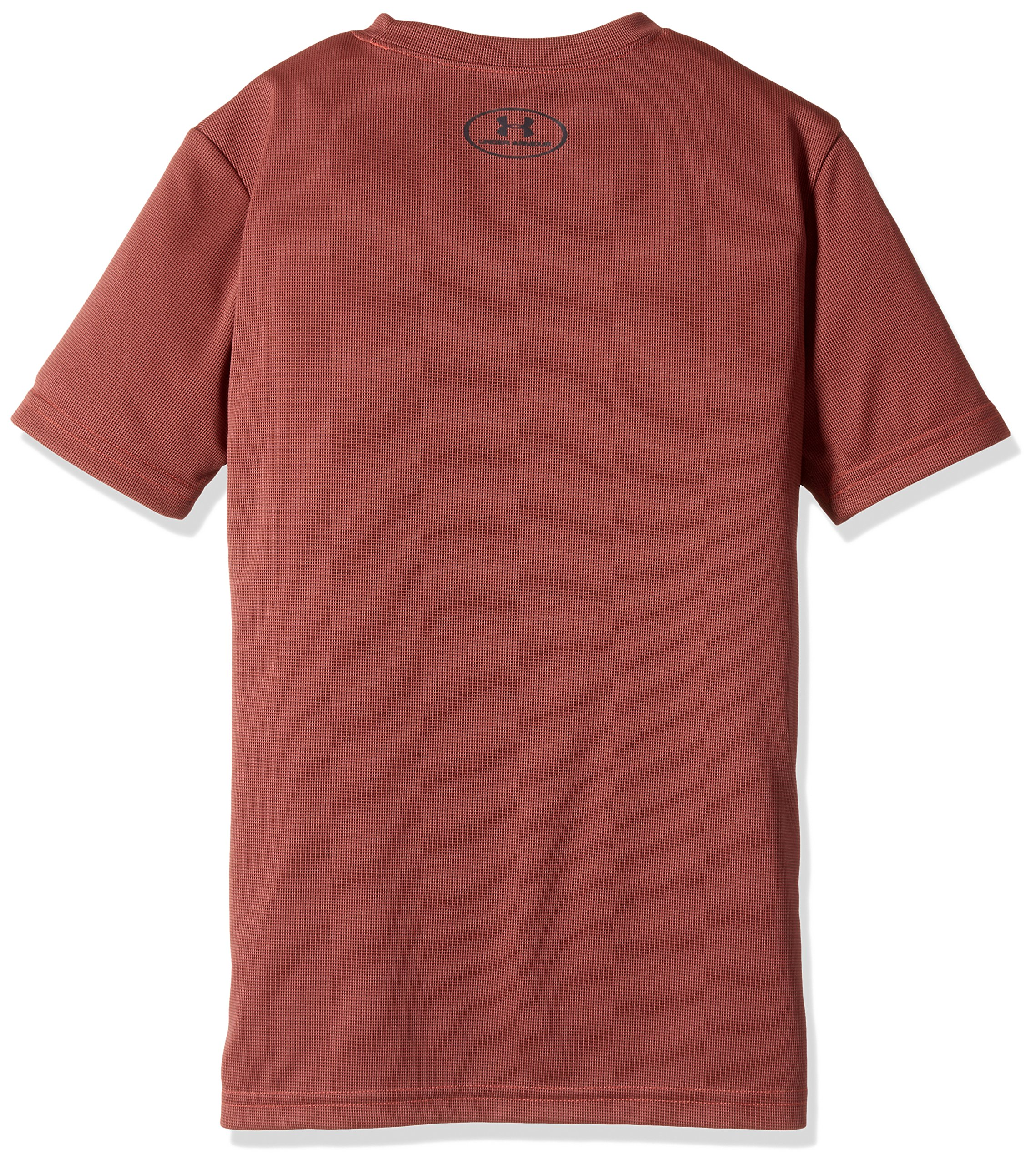 Under Armour Kids Boy's Crossfade Tee (Big Kids) Neon Coral/Stealth Gray/Neon Coral Small by Under Armour (Image #2)