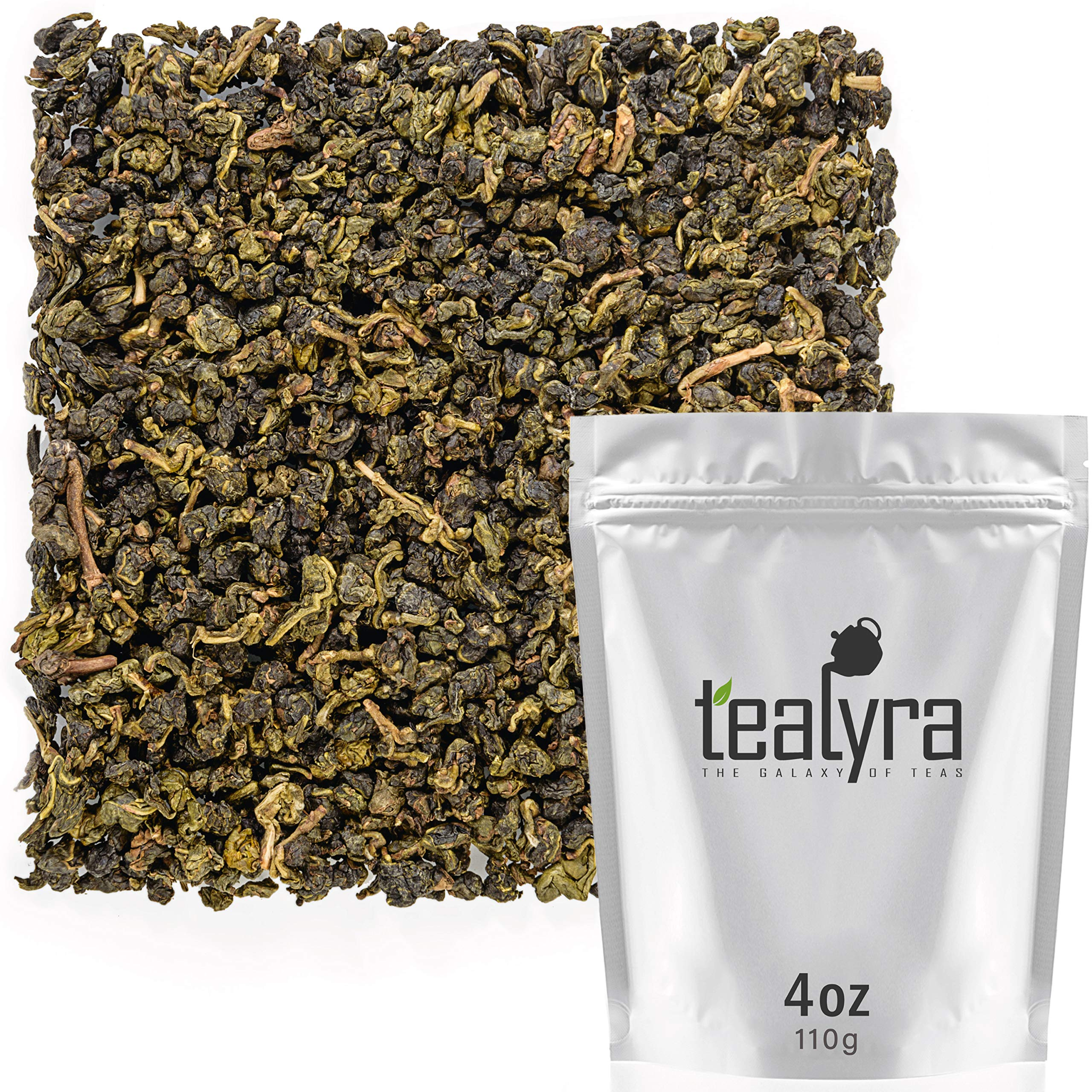 Tealyra - Jade Taiwanese Formosa Oolong - Loose Leaf Tea - Best Oolong Teas from Taiwan - Naturally Grown - Caffeine Medium - 110g (4-ounce)