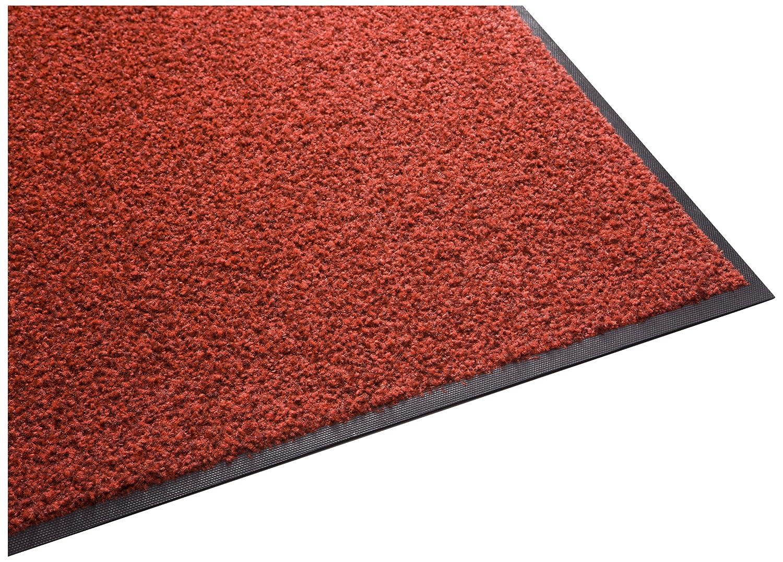 Red 5' x 9' Guardian Platinum Series Indoor Wiper Floor Mat, Rubber with Nylon Carpet, 2'x5', Brown