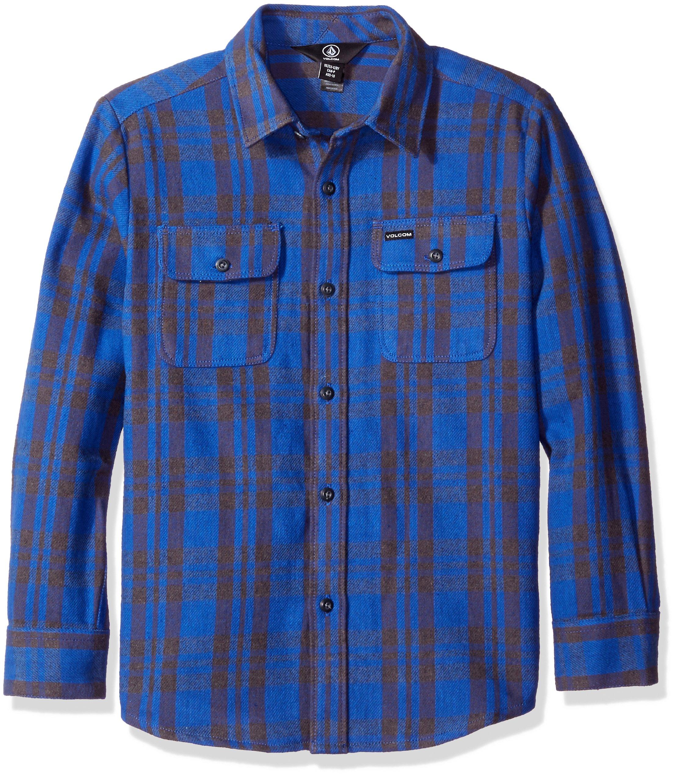 Volcom Big Boys' Copeland Long Sleeve Shirt, Smokey Blue, Large