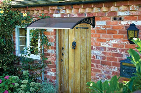 Door Canopy 1000mm Tinted Easy Fit Canopy For Front Or Back Door Protects  From Rain Snow