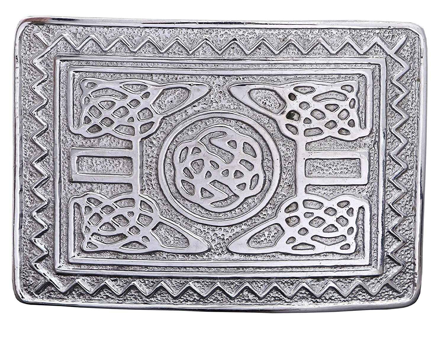 MENS SCOTTISH KILT BELT BUCKLES CHROME BUCKLES 5000-09